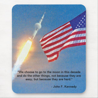 Apollo 11 launch with American Flag Mouse Mat
