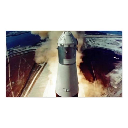 Apollo 11 Lift Off Business Card Template