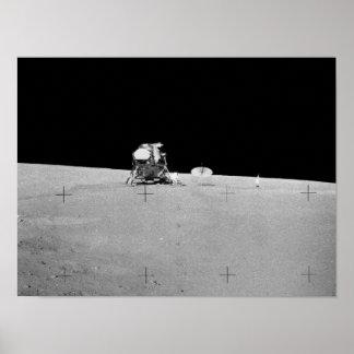 Apollo 12 Lunar Landing Site Poster