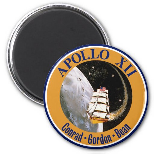 Apollo 12 Mission Patch Magnets