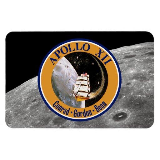 Apollo 12 Mission Patch Rectangular Magnet