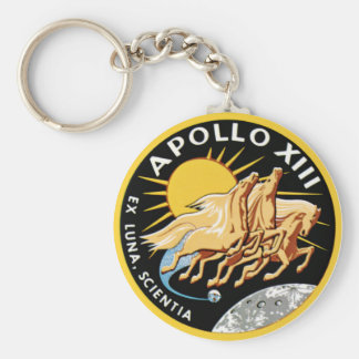 Apollo 13 basic round button key ring