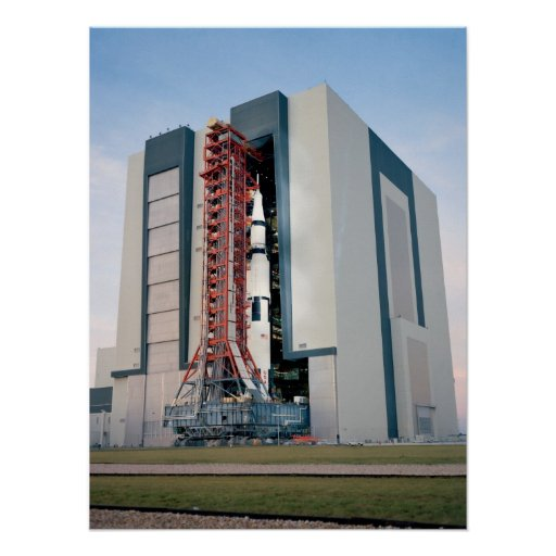 Apollo 14 Leaving the Vehicle Assembly Building Poster