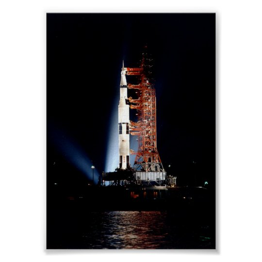 Apollo 14 on the Launch Pad Poster | Zazzle.co.uk