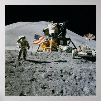Apollo 15 Flag Rover LM Irwin Poster