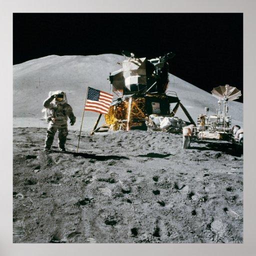Apollo 15, Jim Irwin on the Moon. Huge