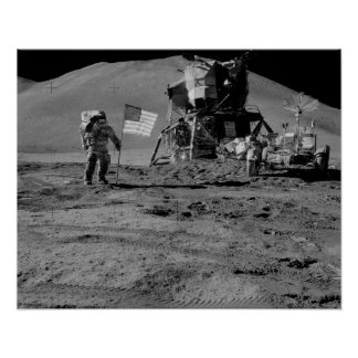 Apollo 15 Lunar Landing Site Print