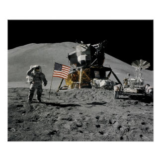 Apollo 15 Lunar Landing Site Posters