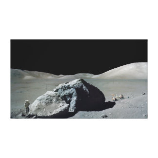 Apollo 17 Astronaut and Vehicle on the Moon Canvas Prints