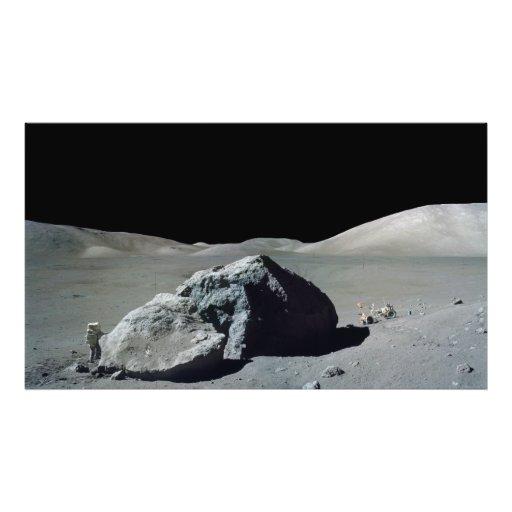 Apollo 17 Astronaut and Vehicle on the Moon Photo