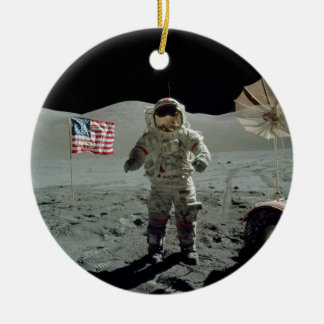 Apollo 17 Astronaut in the Taurus Littrow Valley Christmas Ornament