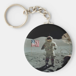 Apollo 17 Astronaut in the Taurus Littrow Valley Key Ring