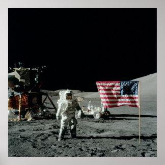 Apollo 17 Lunar Landing Site Poster