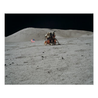 Apollo 17 Lunar Module Landing Site Posters