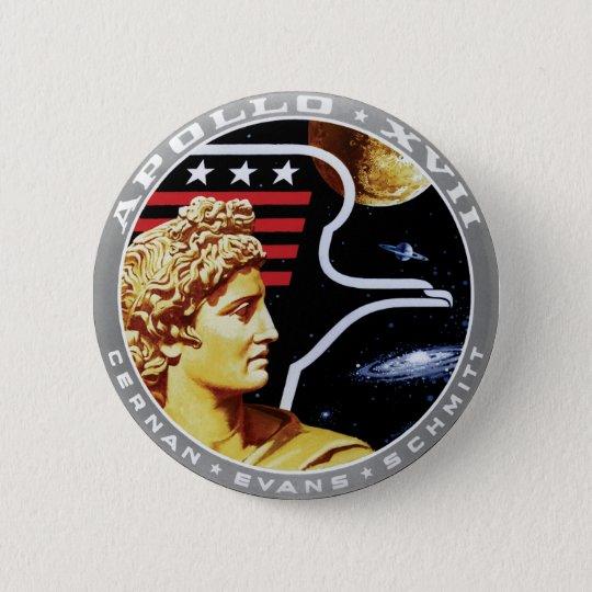Apollo 17 NASA Mission Patch Logo 6 Cm Round Badge