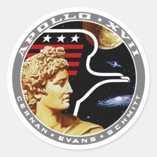 Apollo 17: The Final Hurrah! Round Sticker