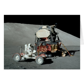 Apollo 17 - The Final Manned Moon Landing Greeting Card