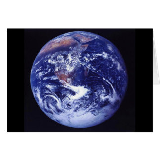 Apollo 17 view of Earth in space Greeting Card