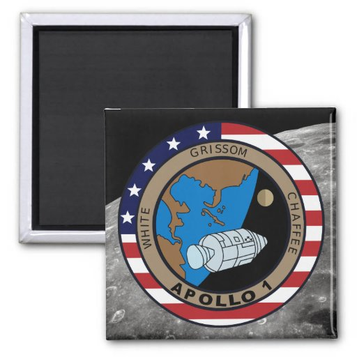 Apollo 1 Mission Patch Refrigerator Magnet
