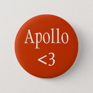 Apollo <3 6 cm round badge
