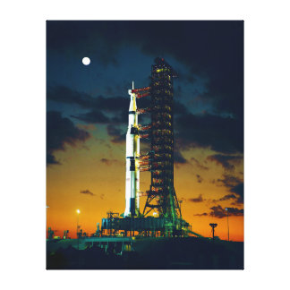 Apollo 4 Saturn V on Pad A Launch Complex 39 Gallery Wrapped Canvas
