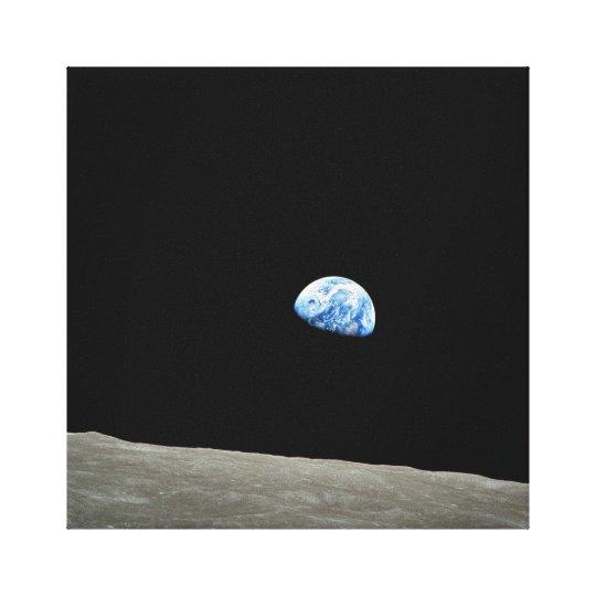 Apollo 8 NASA Moon Mission Earthrise Canvas Print