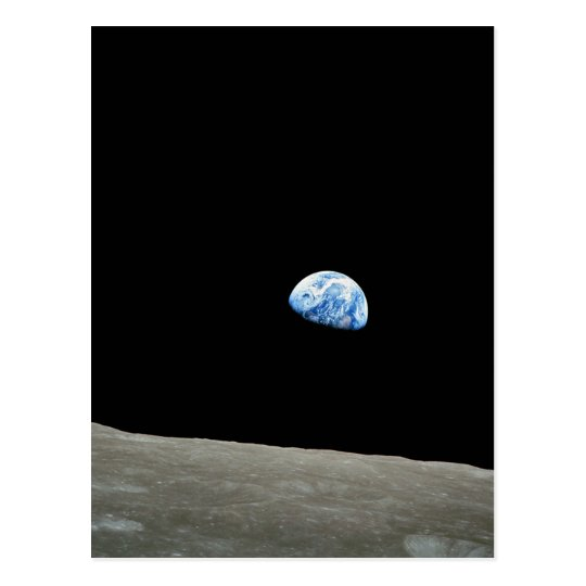 Apollo 8 NASA Moon Mission Earthrise Postcard