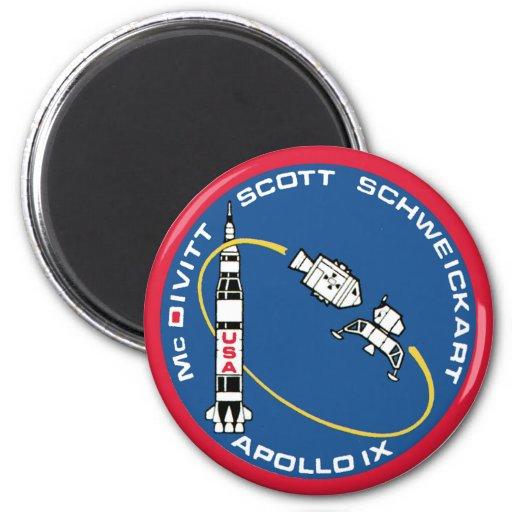 Apollo 9: McDivitt, Scott & Schweickart Refrigerator Magnet