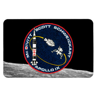 Apollo 9 Mission Patch Rectangular Photo Magnet