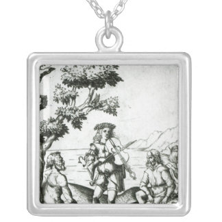 Apollo and Pan Silver Plated Necklace