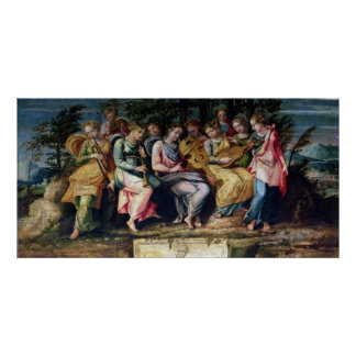 Apollo and the Muses, 1600 Poster