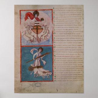 Apollo as the Sun and Diana as the Moon Poster