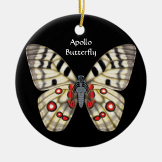 Apollo Butterfly, Dorsal and Ventral Christmas Ornament