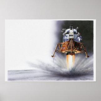 Apollo Eagle Lunar Module Poster
