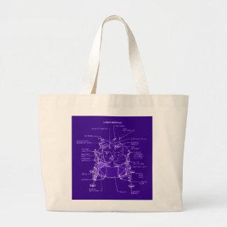 Apollo Lunar Module Blueprints Jumbo Tote Bag