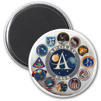 Apollo Program Commemorative Logo 6 Cm Round Magnet