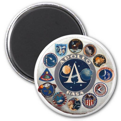 Apollo Program Commemorative Logo Refrigerator Magnet