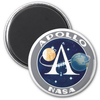 Apollo Program Logo 6 Cm Round Magnet