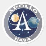Apollo Program Logo Round Stickers