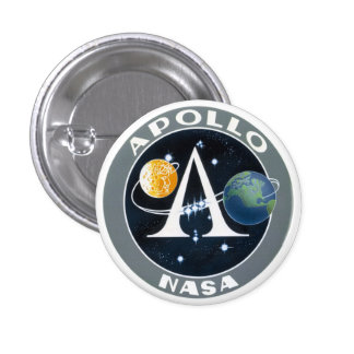 Apollo Program Mission Patch Button