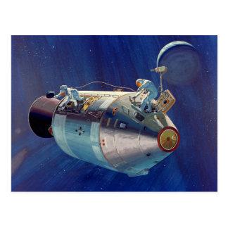 Apollo Program - Moon Mission Artist Concept Postcard
