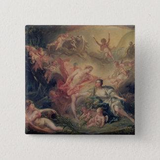 Apollo Revealing his Divinity 15 Cm Square Badge