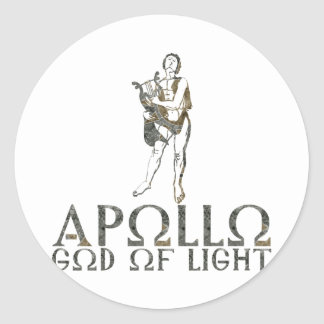 Apollo Round Sticker