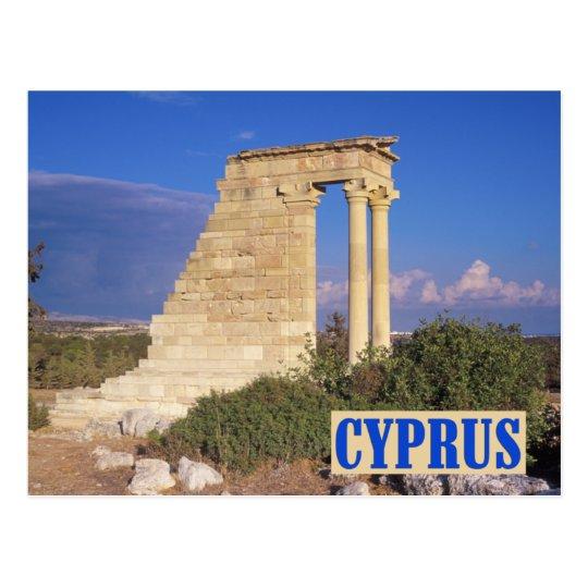 Apollo temple Cyprus postcard
