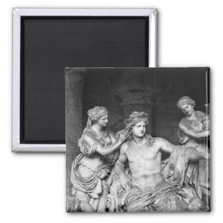 Apollo tended by nymphs in the grove of the square magnet