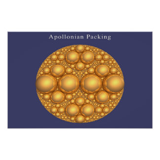 Apollonian Packing of an Apollonian Packing Poster