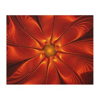 Apophysis Fantasy Flower Design Wood Print - Sizes