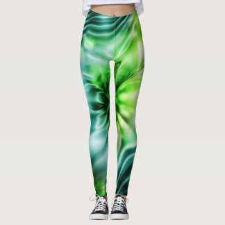 Apophysis Fractal - DREAM IN GREEN Leggings
