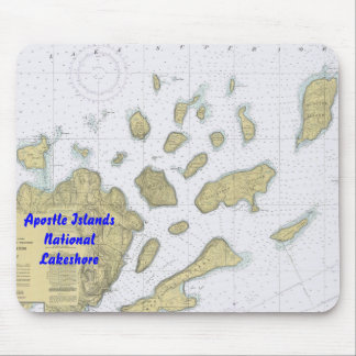 Apostle Islands National Lakeshore Chart Mouse Pad