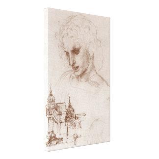 Apostle Jacobus Sforza Castle, Leonardo da Vinci Gallery Wrapped Canvas
